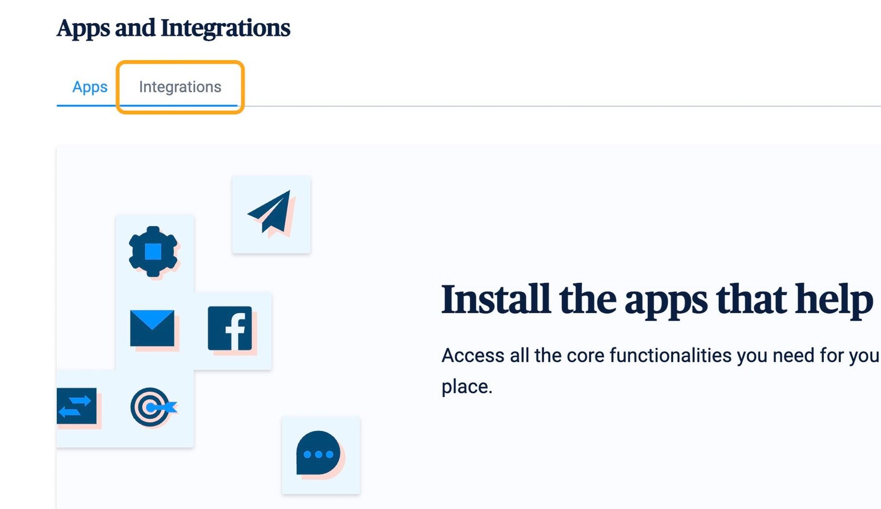 Click on Integrations